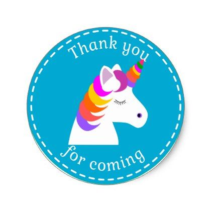 Unicorn birthday favor bag stickers magical classic round sticker craft supplies diy custom design supply