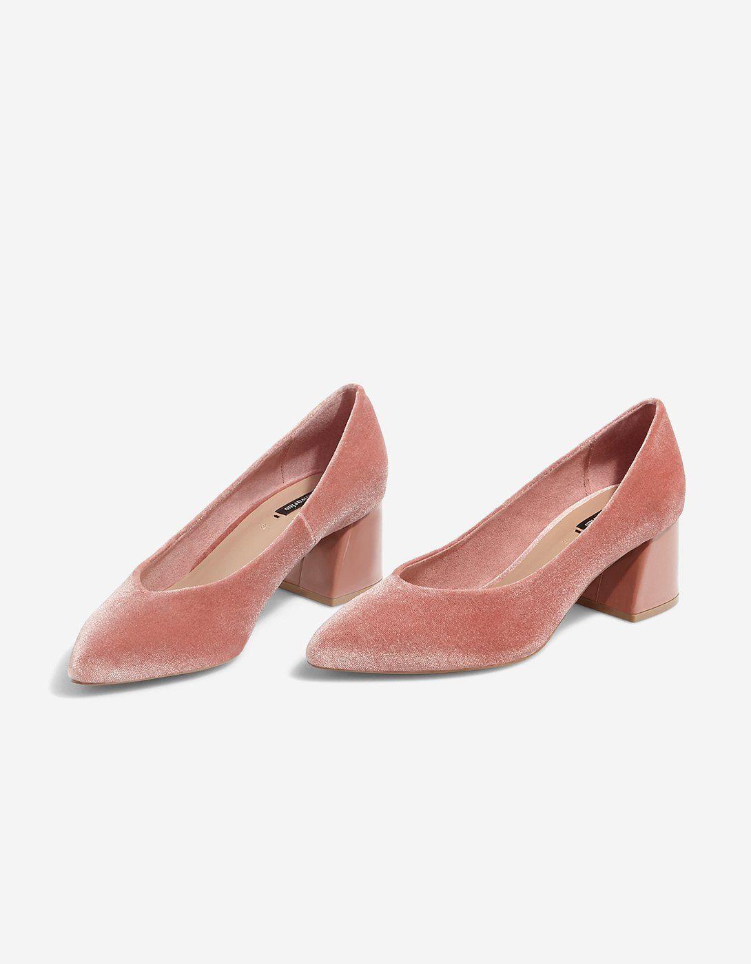 7fdc36b1dac Velvet mid heel shoes - All