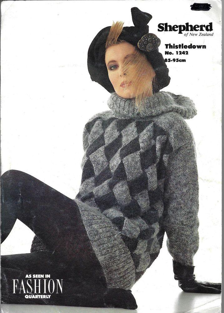 Women\'s ENTRELAC Sweater Shepherd 1242 knitting pattern 8 ply yarn ...