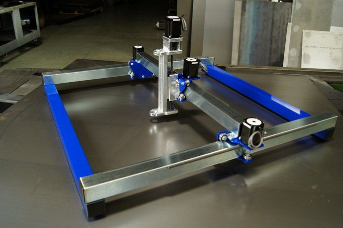 Diy cnc plasma router carriage kit nema 23 with bearings for Cnc router table plans