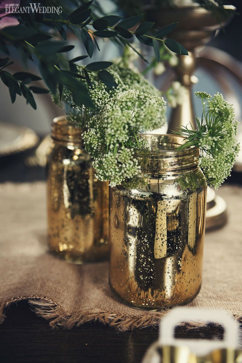 Mason Jar Wedding Decorations Gold Tinted Mason Jar Wedding Decor Rustic South Asian Wedding