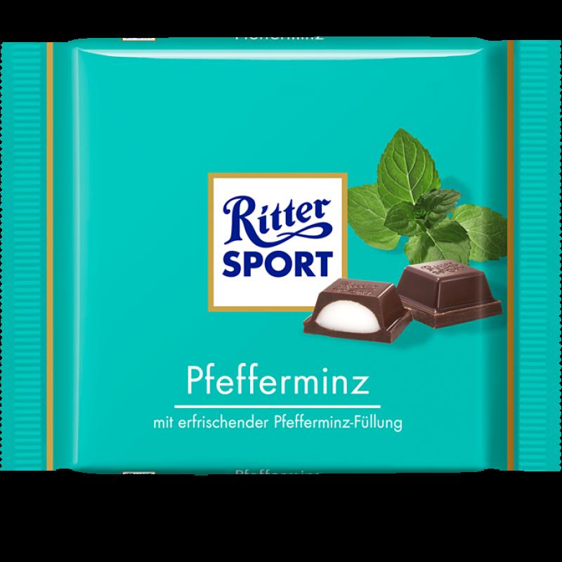 100g Pfefferminz 100g Bunte Vielfalt Schokolade