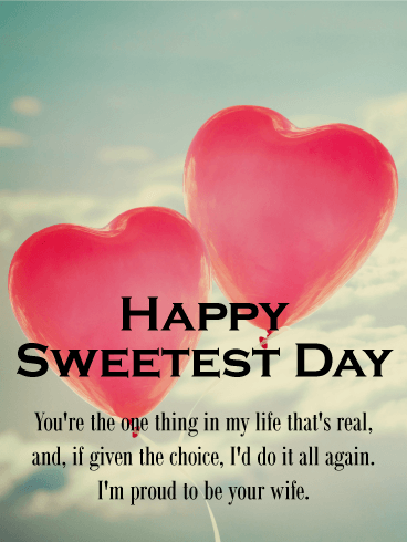 Two Heart Balloons Happy Sweetest Day Card Birthday Greeting Cards By Davia Happy Sweetest Day Holiday Desserts Thanksgiving Sweetest Day