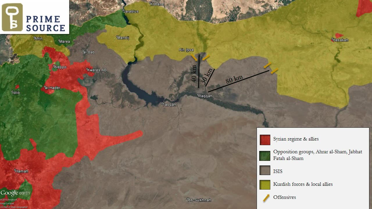 Syria War Battle for ArRaqqah Raqqa Rakka map November 6