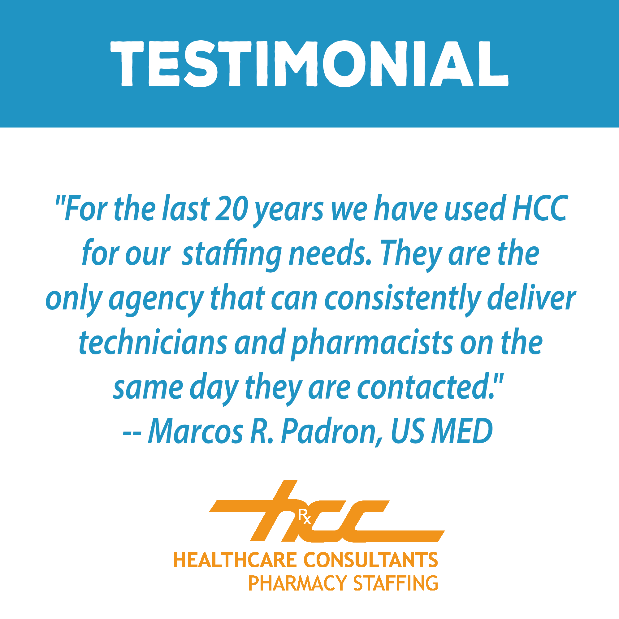 Pin by HCC Pharmacy Staffing on Client Testimonials