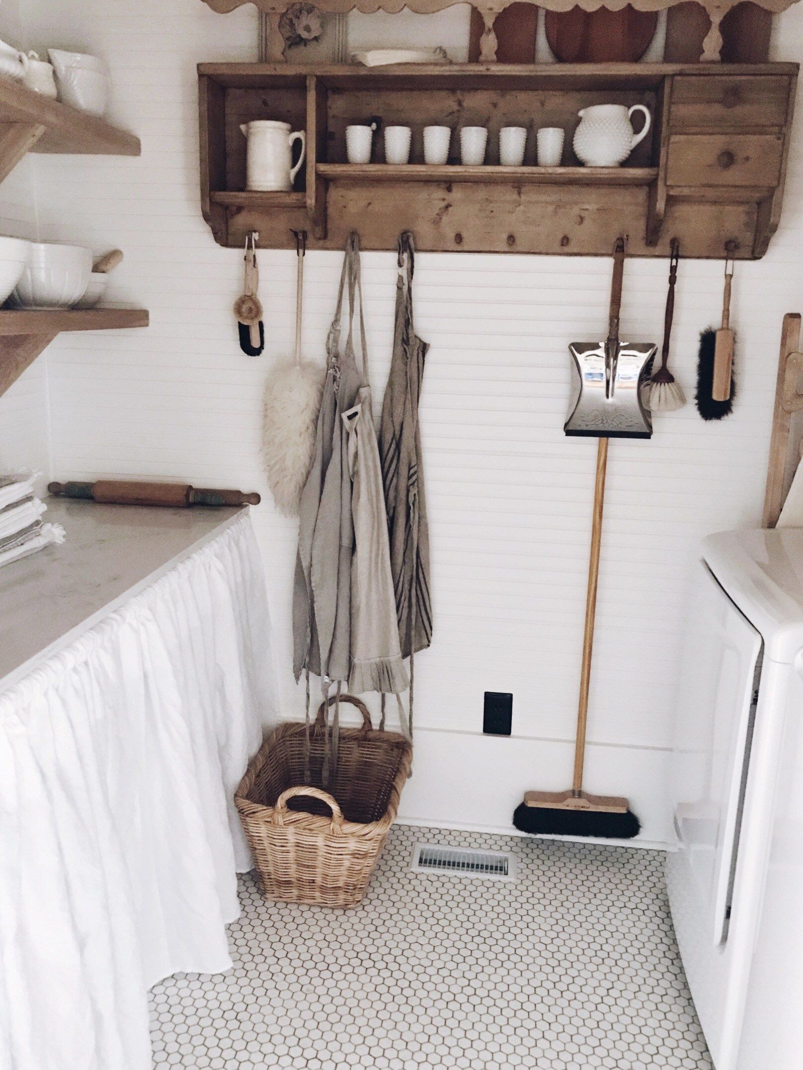 An Old Fashioned Farmhouse Laundry Room