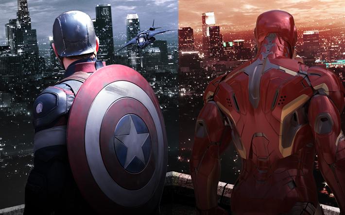Captain America Civil War Wallpaper 4k: Download Wallpapers Iron Man, Captain America, 4k
