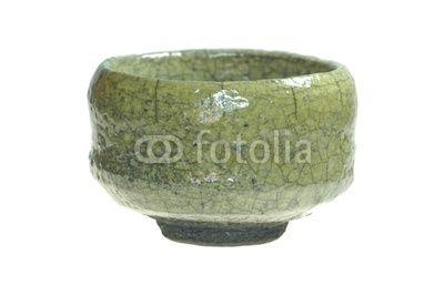 Teeschale Raku grün, Tee, tea bowl, green, Fotolia
