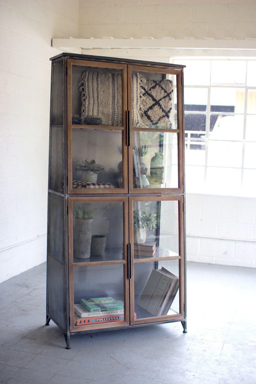 Modern Gl Door Storage Cabinet Bookcase Woodwaves