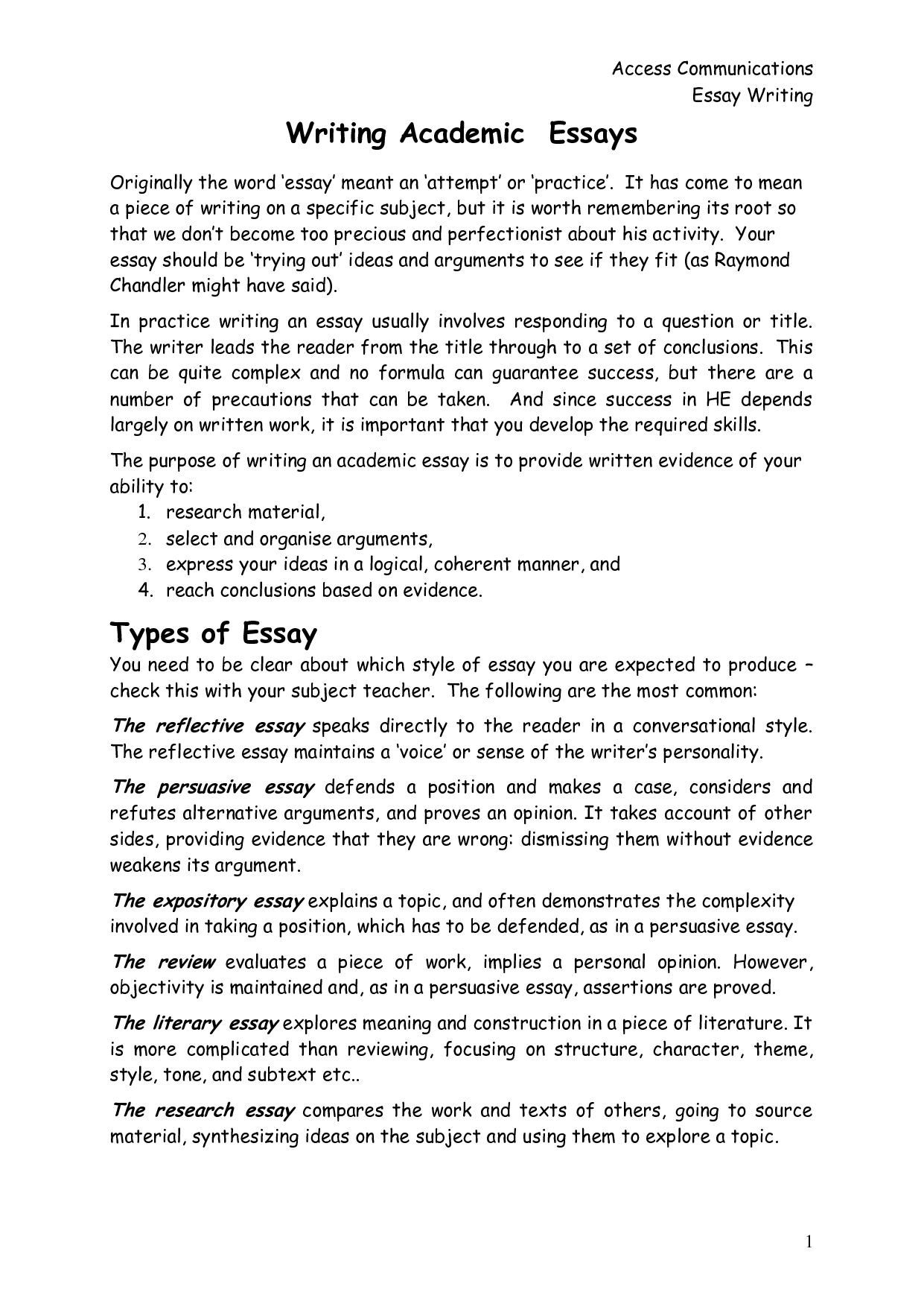 What is academic essay writing for example with what is academic