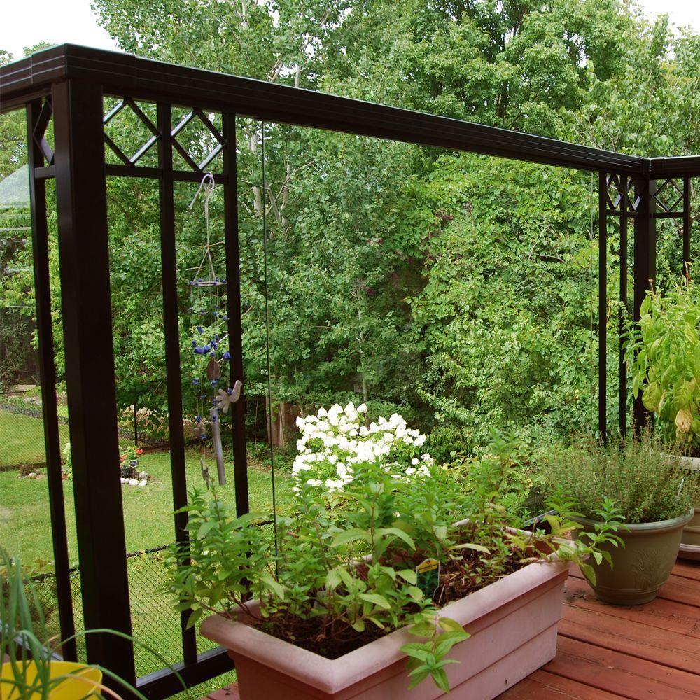 Best Peak Aluminum Railing Black Aluminum Decorative Handrail 640 x 480