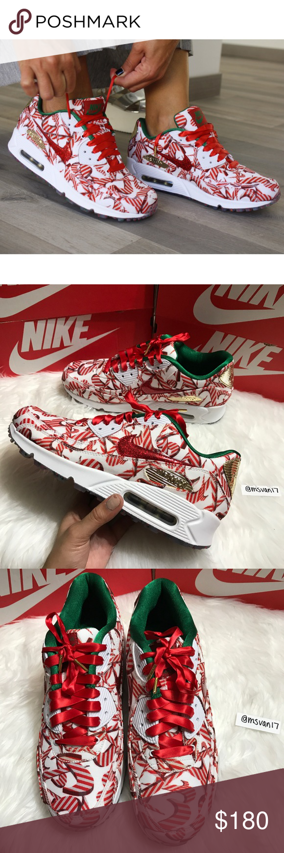 OFFER ME⚡ RARE Nike Air Max 90 Christmas NWT | Air max 90, Nike ...