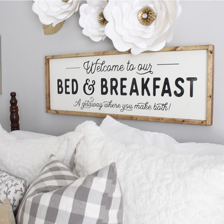 Bed And Breakfast Wood Sign Diyhomedecor Guest Bedroom Decor