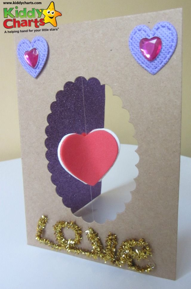 Spinning 3D Valentines Day card – How to Make a Valentine Cards