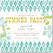 Tiny Prints Ikat invite
