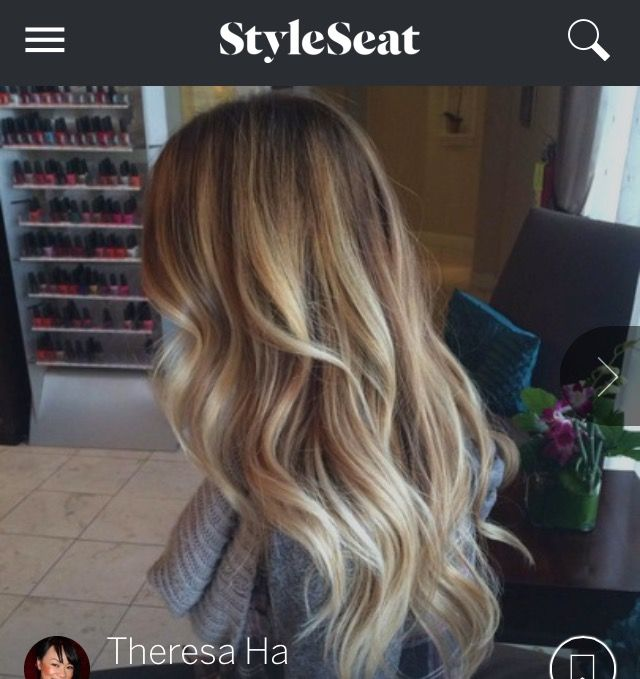 Hairjob on chair with long blonde hair