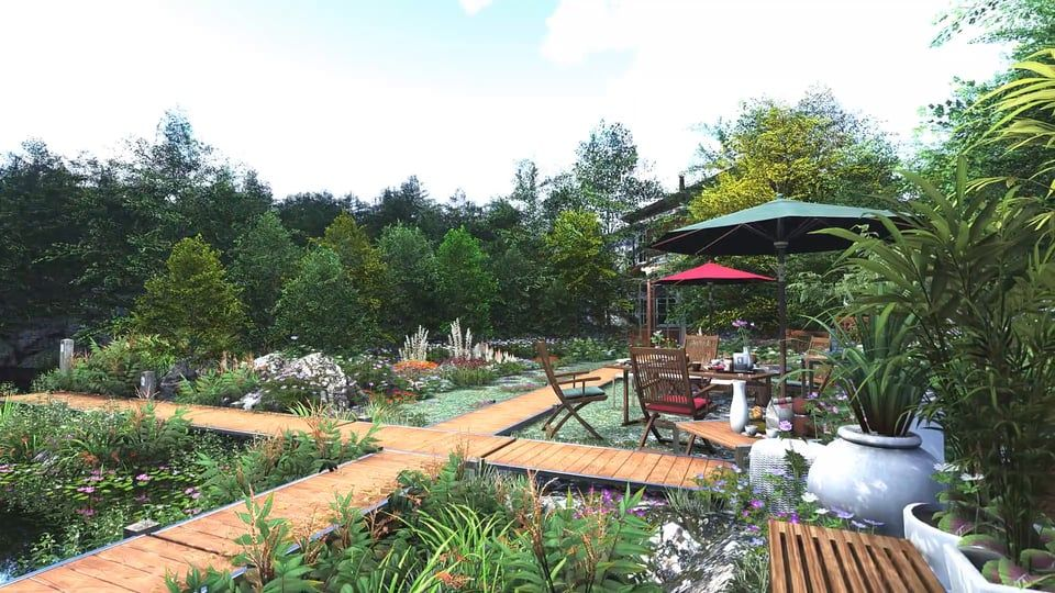 Lumion 4 5 The Garden Architecture Visualization Garden Green Environment