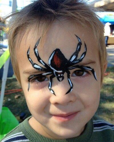 Face Painting Black Widow Spider Jongens Paints En Painting