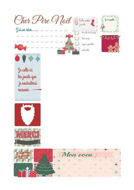 Miss Sacha Ma Lettre Au Père Noël à Imprimer Gratuit