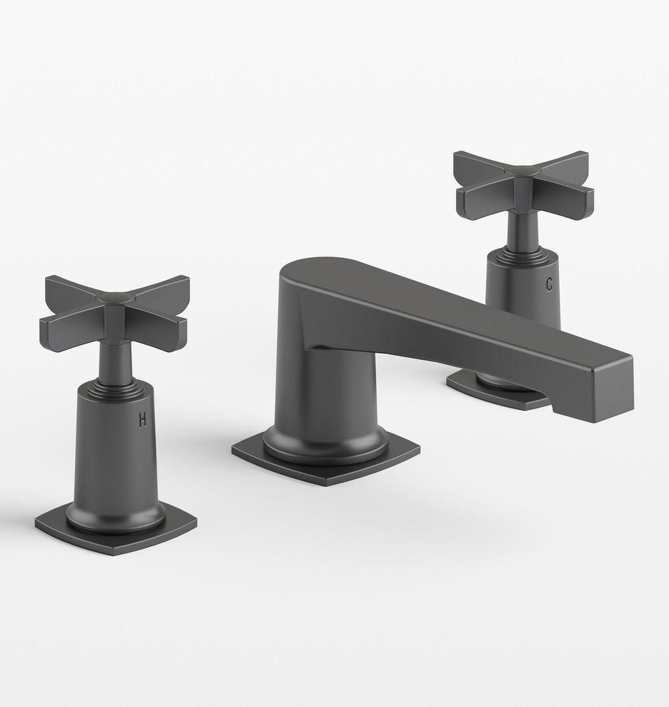 H Line Cross Handle Widespread Bathroom Faucet Rejuvenation Bathroom Faucets Widespread Bathroom Faucet Antique Brass Bathroom Faucet [ 990 x 936 Pixel ]