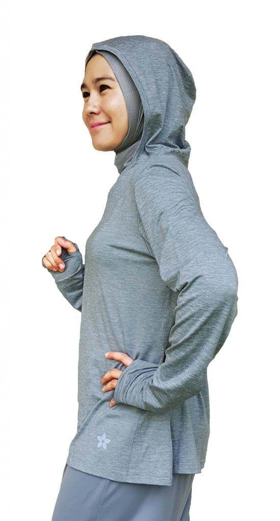 Quelle tenue de sport avec le hijab pour une silhouette en H   sosab.fr fb10eaa5ba1