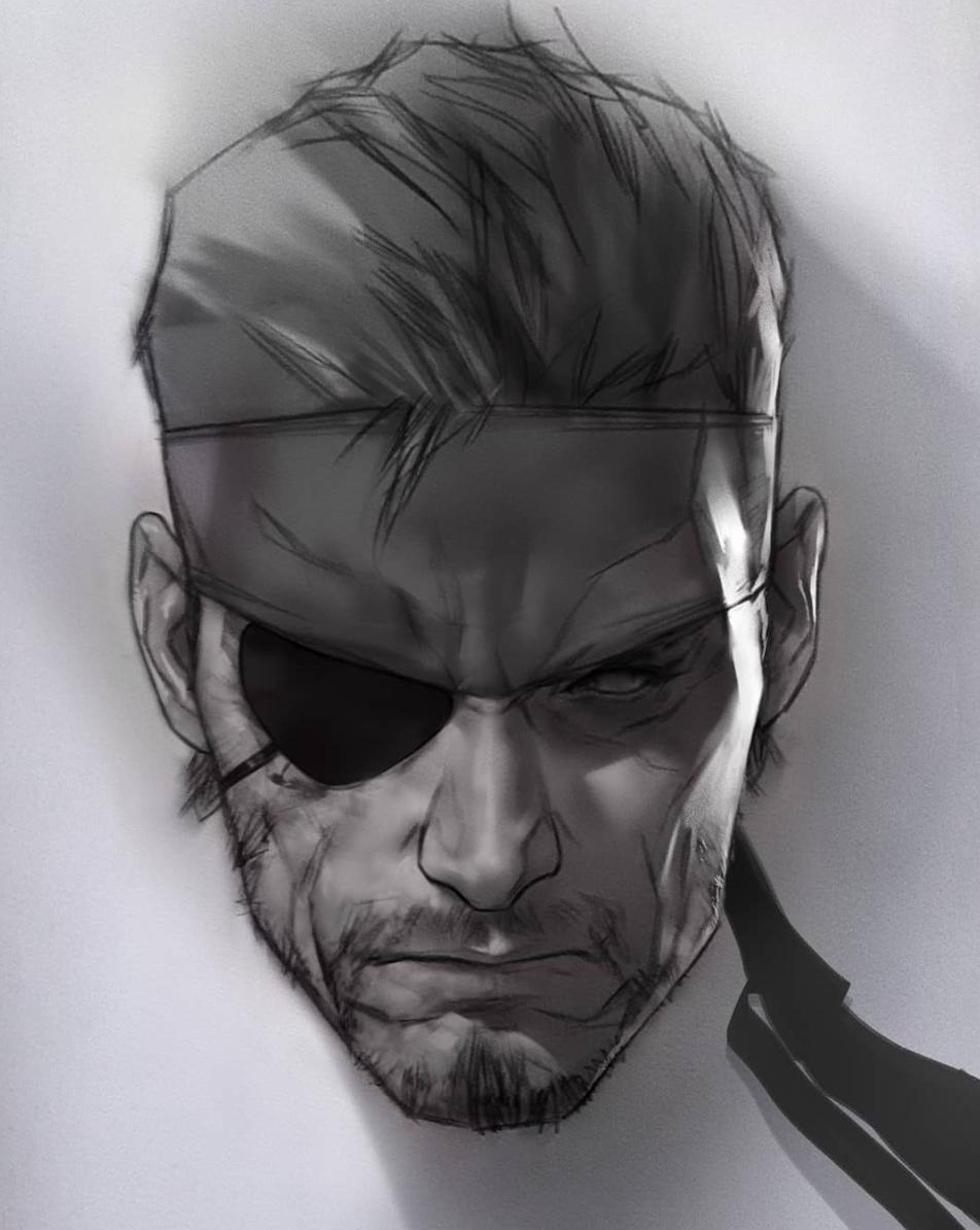 Metal Gear Solid Snake By Ben Oliver Snake Metal Gear Big Boss Metal Gear Metal Gear