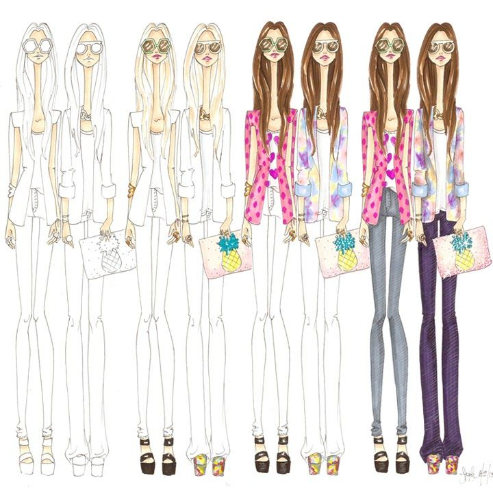 How To: fashion illustration from live photo