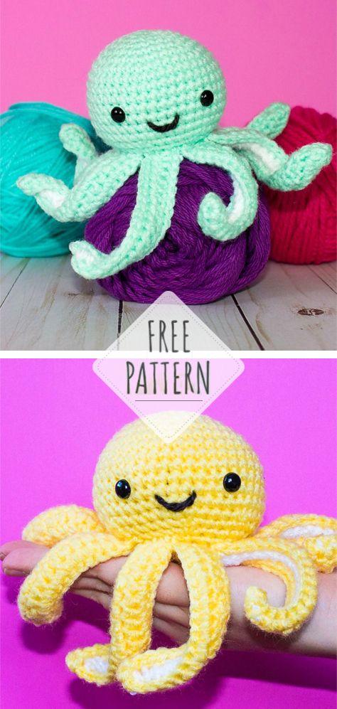 The Friendly Mini Octopus Crochet Free Patterns All About Crochet Octopus Crochet Pattern Crochet Baby Headband Pattern Free Crochet