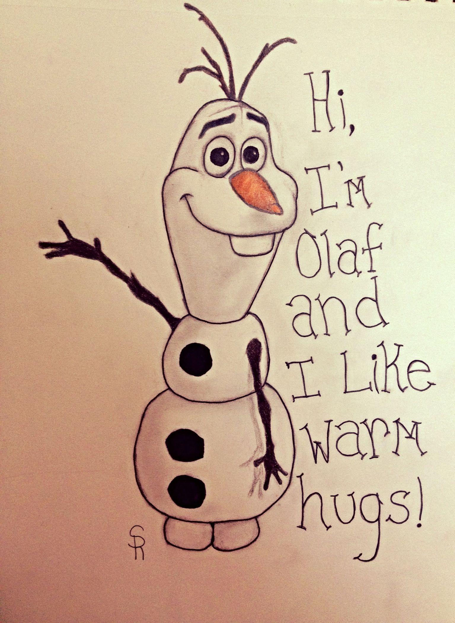 Olaf From Frozen Disney Art Diy Easy Cartoon Drawings