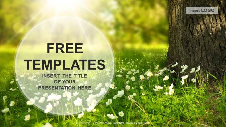 Nature Powerpoint Templates Free Flowers Meadow Nature Ppt