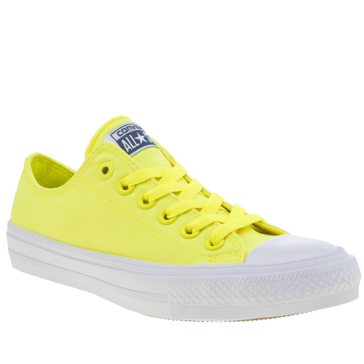 womens converse yellow chuck taylor all star ii neon trainers