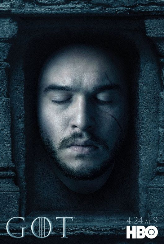 Game Of Thrones Season 6 Posters With Images Jon Snow New