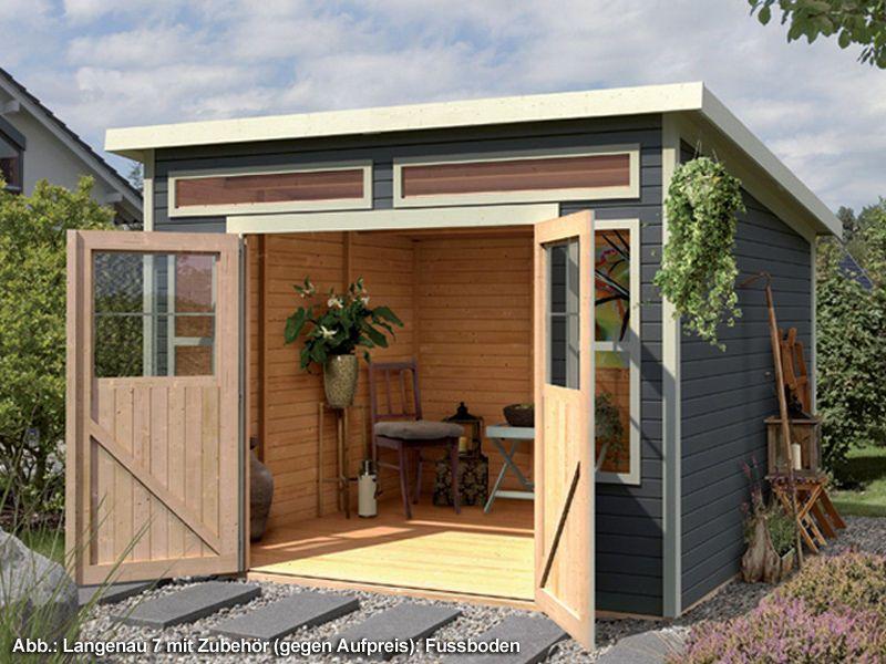 KARIBU Gartenhaus Langenau 7 19 mm 302 x 306 cm terragrau