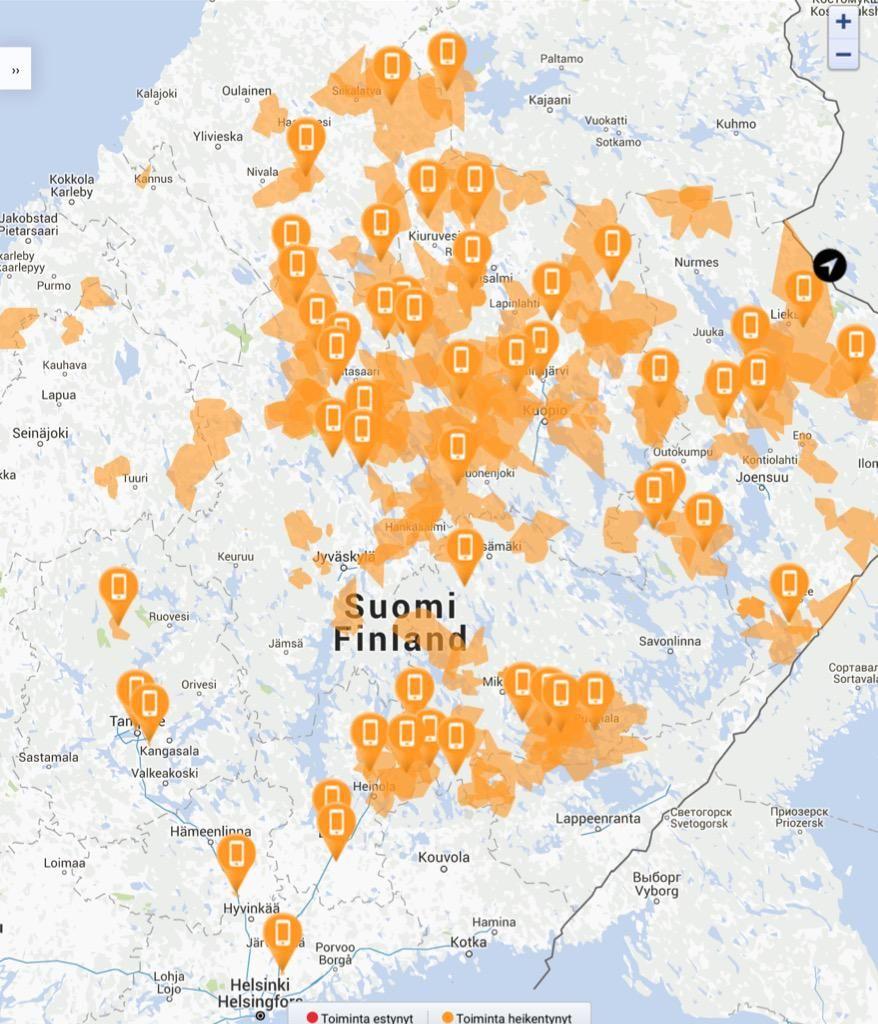 Saattaa esiintyä lieviä yhteyshäiriöitä ihan vaan satunnaisesti ehkä tyyliin koko Suomessa.  http://t.co/uj9twck0Wb