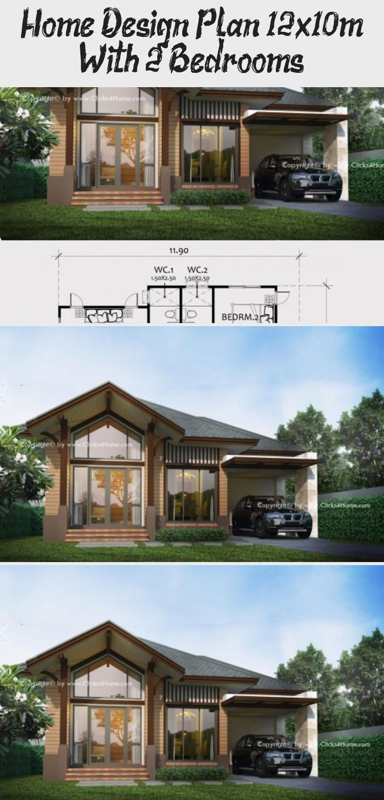 Home Design Plan 12x10m With 2 Bedrooms Ruby S Blog In 2020 Home Design Plan Pool House Plans House Design