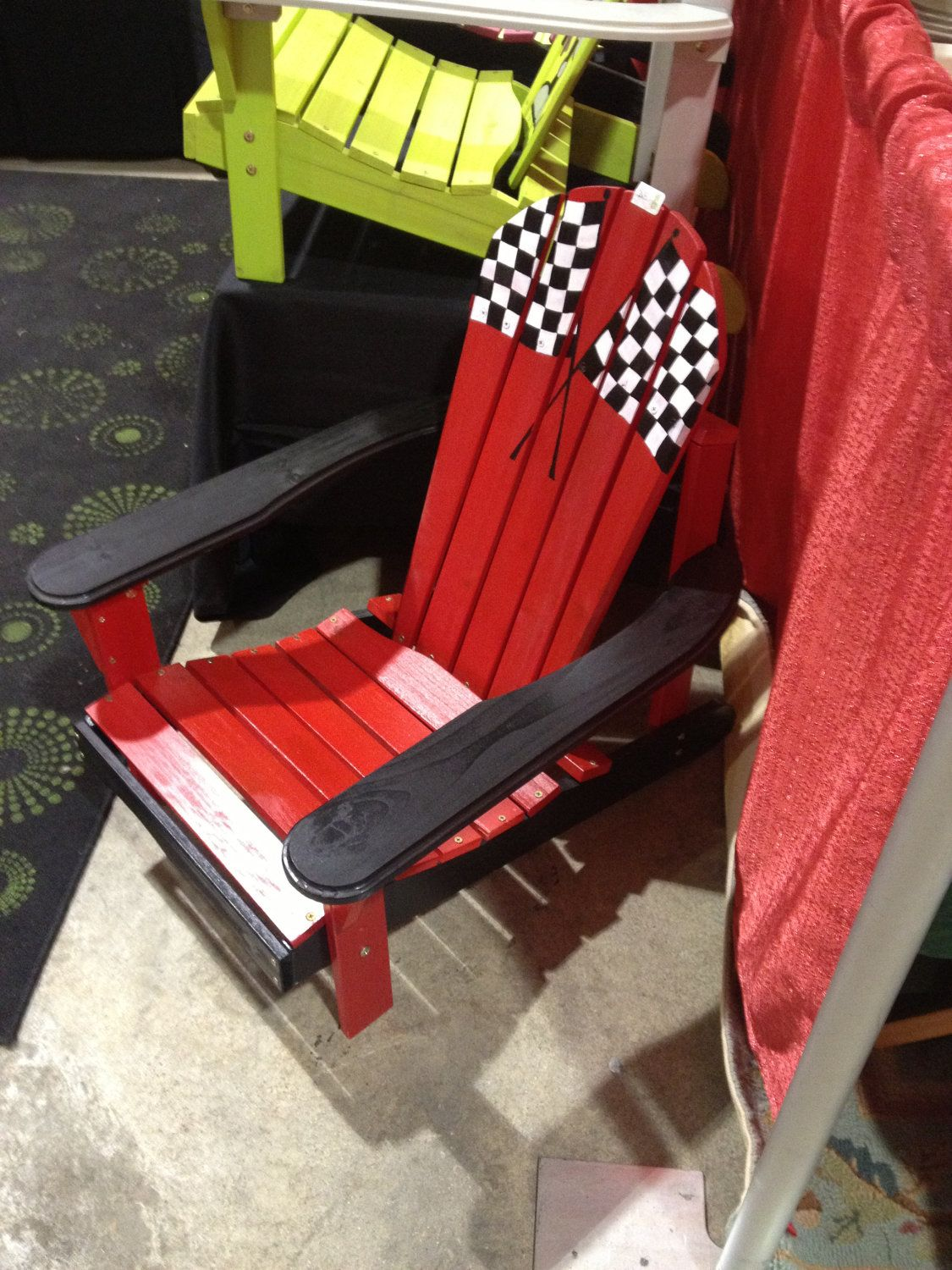 Cool Painted Adirondack Chair Racing Themed Kids Adirondack Chair Andrewgaddart Wooden Chair Designs For Living Room Andrewgaddartcom