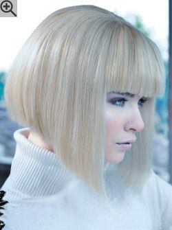 Blonde A Line Bob With Undercut For Movement The Fringe Was Cut