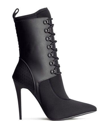 McQ Alexander McQueen botas stiletto en punta - Negro farfetch el-negro Izq5bL