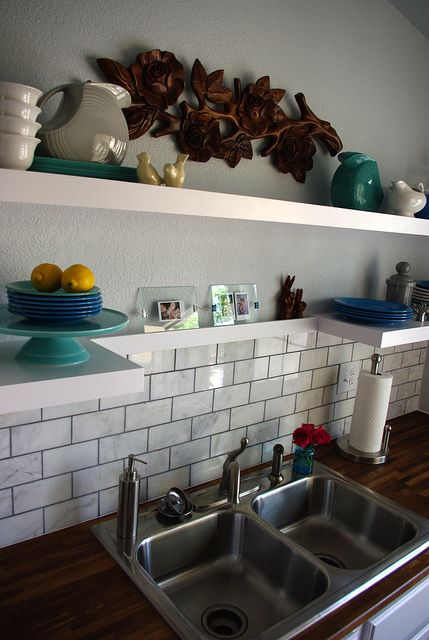 Marble Amp Wood Bathroom Project Marble Tile Backsplash