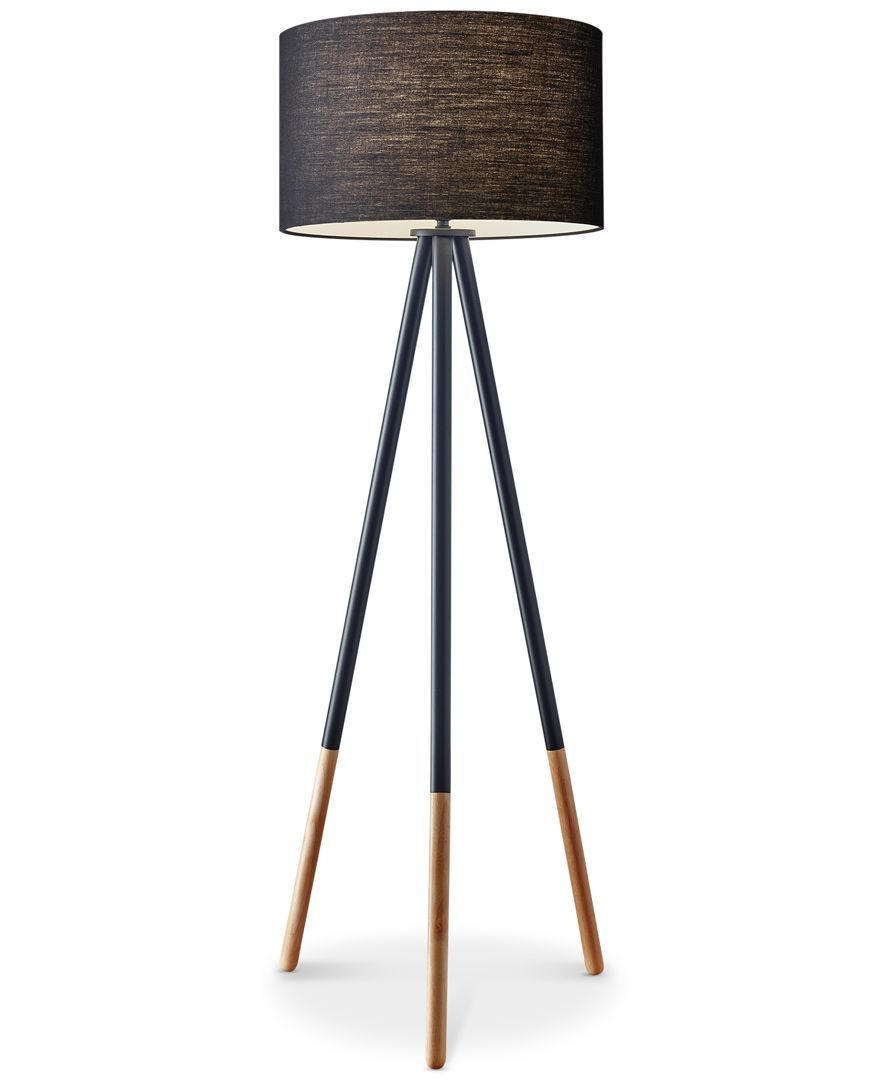 Adesso Louise Tripod Floor Lamp Amp Reviews All Lighting Home Decor Macy S Black Floor