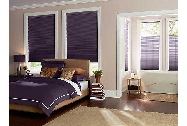 Top Down Bottom Up Violet Cellular Shades Room Darkening And Light