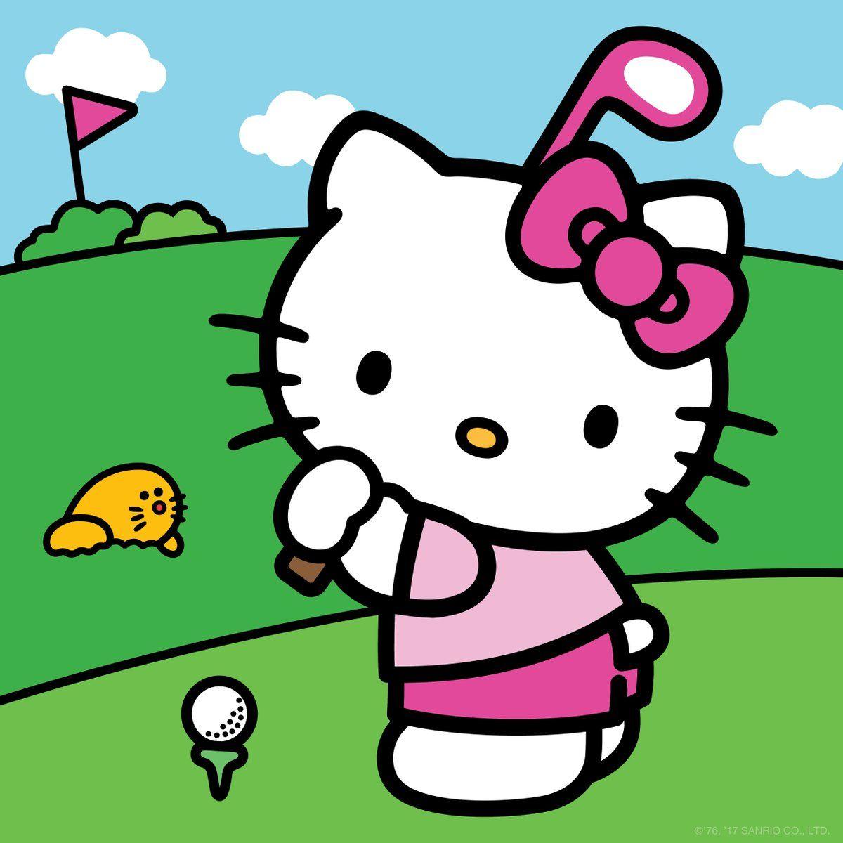 Hello Kitty Mini Golf Hello Kitty Backgrounds Hello Kitty Coloring Hello Kitty Pictures