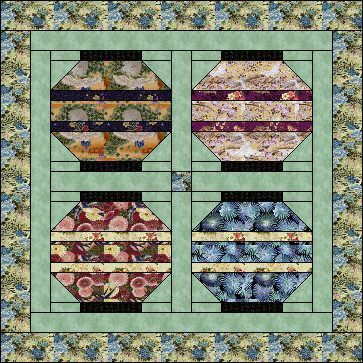 Quilt Block - cute japanese lantern pattern   quilting   Pinterest ... : japanese lantern quilt pattern - Adamdwight.com