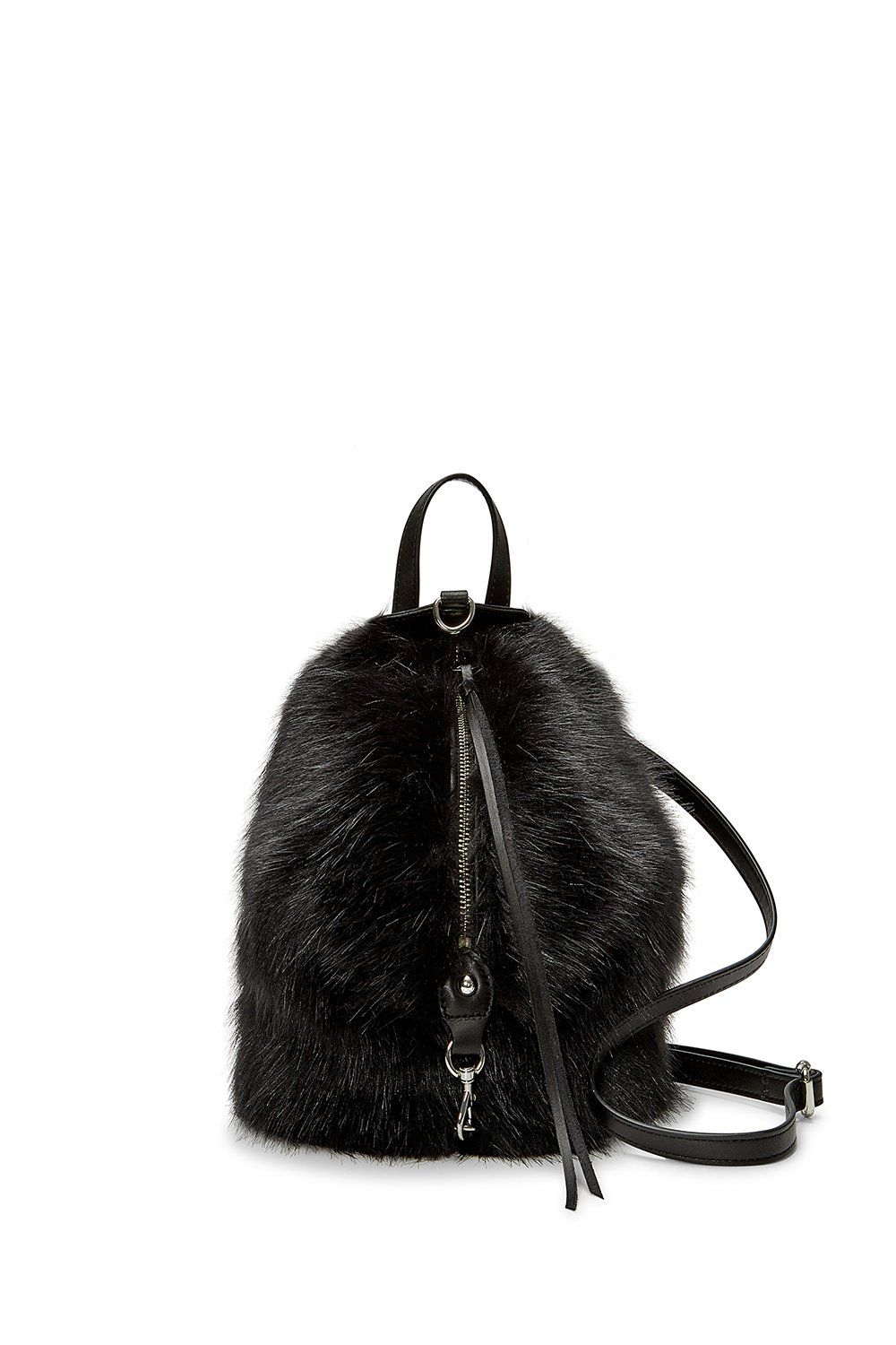 59fd9eb77a22 Faux Fur Convertible Mini Julian Backpack in 2019
