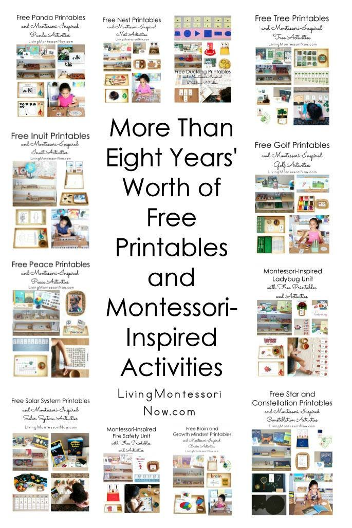 More Than Eight Years' Worth of Free Printables and Montessori-Inspired Activities