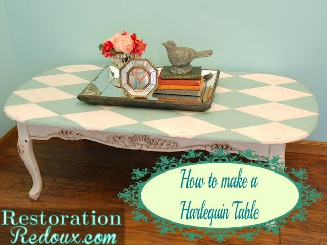The Harlequin Table and How My Dog Nearly Killed Me  http://www.restorationredoux.com/?p=8158