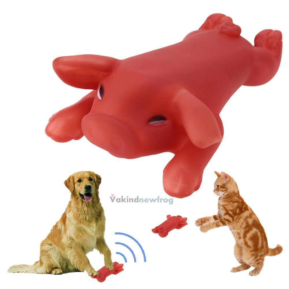 Pet Cat Dog Puppy Chew Squeaker Squeaky Sound Roasted Suckling Pig