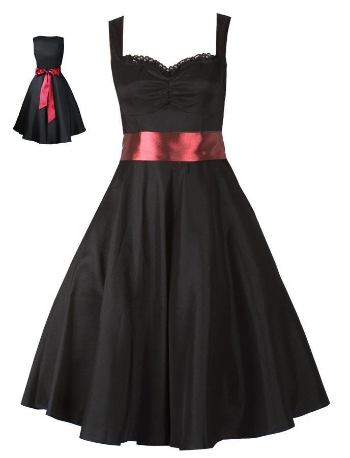 Robe rouge et noire grande taille