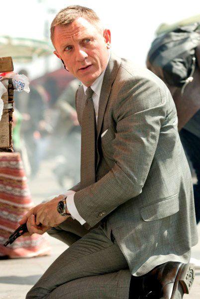 Sf Mens Light Grey Suit Daniel Craig James Bond Daniel