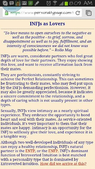 INFJ personality - - I don\u0027t agree with the last paragraph because I